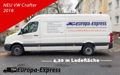 2018: Neuer VW Crafter mit 4,20 Meter Ladefläche
