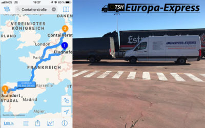 Portugal | Abholung 10 Paletten aus Trofa