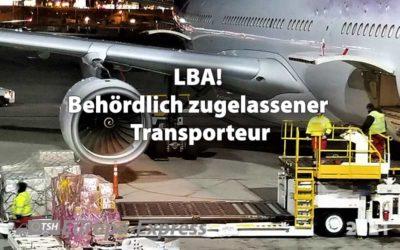 Zugelassener Transporteur für Luftfracht gem. LBA